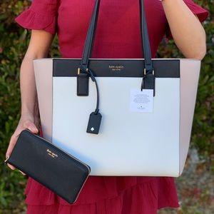 Kate Spade Cameron LG Laptop Tote / Wallet Set